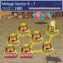 World map of Sector 8 in <i>Final Fantasy Airborne Brigade</i>.