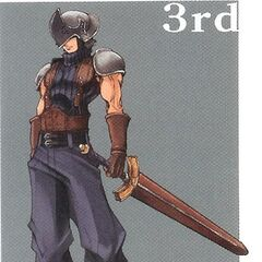 Artwork of SOLDIER 3rd Class from <i>Crisis Core</i>.