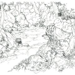 Concept art of Enclosed Forest.