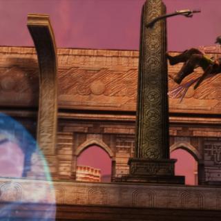 Cid deflects Reddas's attack.