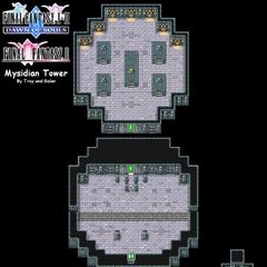 Mysidian Tower's Map (PSP).