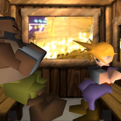 Barret on a date with Cloud.