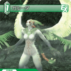 Trading Card depicting Garuda from <i>Final Fantasy XI</i>.