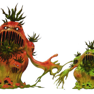Concept artwork of the Mutantomato (right).