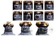 Brahne CG Faces FFIX Art