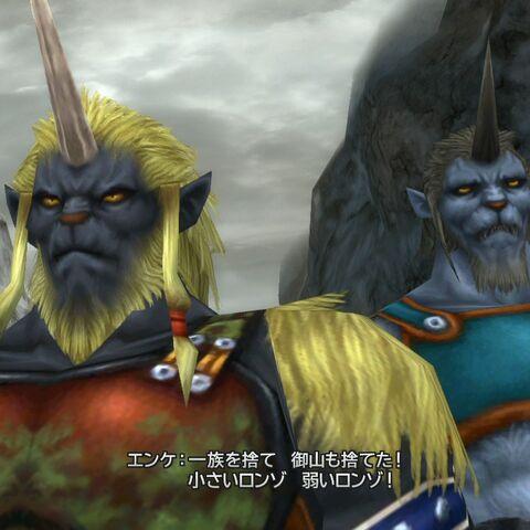 Biran and Yenke in <i>Final Fantasy X HD Remaster</i>.