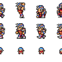 Set of Firion's sprites.