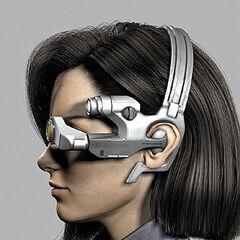 Aki's goggle (side).