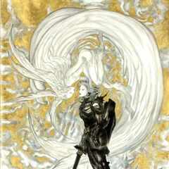 Artwork of Garuda on the cover of the <i>Final Fantasy XIV</i> Collector's Edition by <a href=