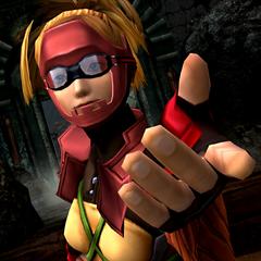 Rikku in her diving suit.