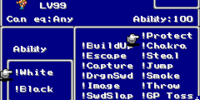 List of Final Fantasy V abilities
