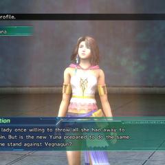 Yuna's profile in Shinra's Dossiers.