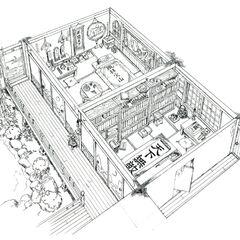 Godo's house concept art.
