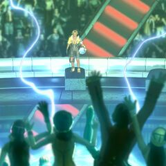 Tidus in the stadium.