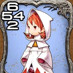 Refia as a White Mage.