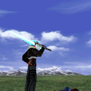 Squall's victory pose.