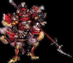 Imagen artística de Gilgamesh en Dissidia 012 Final Fantasy.