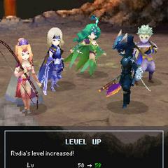 Adult Rydia's Level Up pose.