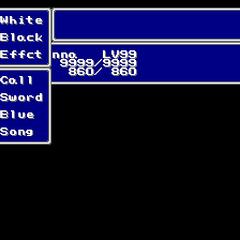 The Magic menu in the SNES version.