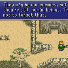 Leo trying to educate Kefka (GBA).