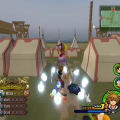 Reflect countering in <i>Kingdom Hearts II</i>.