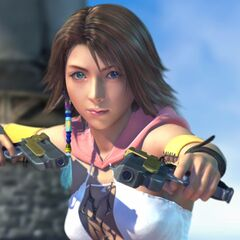 Yuna in a FMV at the start of the game.