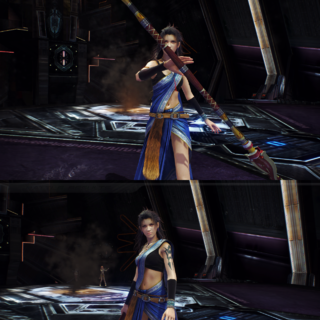 Fang's victory pose.