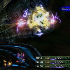 Vegnagun charges its cannon (PS2).