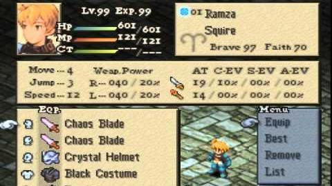 Final Fantasy Tactics - Weapon Duplication Glitch