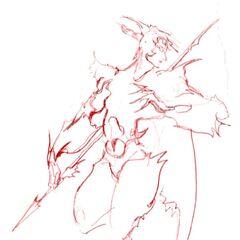 Development sketch by Yoshitaka Amano.