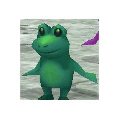 Toad render for Rydia in <i>Final Fantasy IV</i> (iOS).