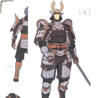 Concept art of a Samurai.