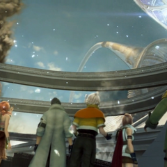 Etro's gate opens on the sky of Eden in <i>Final Fantasy XIII</i>.