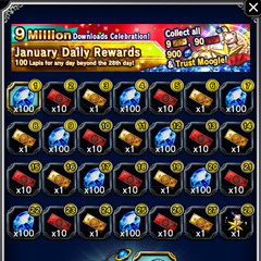 January 2017 Daily Rewards for global release.