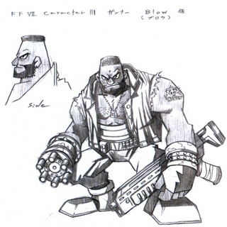 Early concept art of Barret.