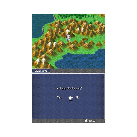 The Quicksave menu (iOS).