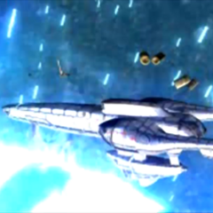 <i>Highwind</i> being destroyed in an FMV.