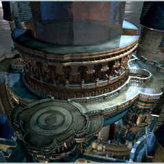 Concept artwork of the top of the castle.