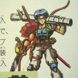 <i>The Final Fantasy Legend</i> Human Male Artwork.