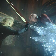 Lightning fights against Snow.