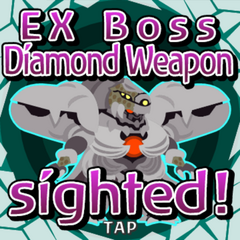EX Boss Diamond Weapon sighted inside a Gate Crystal.