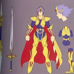 Concept art of DLC outfit Paladin form.