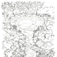 Concept art of the Chocobo Sanctuary.
