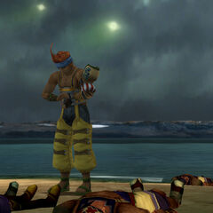 Wakka prays for those fallen in the operation.