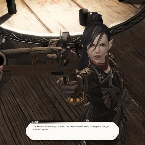 Hilda's rifle.