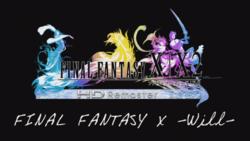 El logo de Final Fantasy X -Will-.