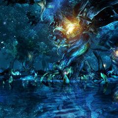 Macalania pond in <i>Final Fantasy X</i>.