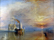 220px-Turner, J. M. W. - The Fighting Téméraire tugged to her last Berth to be broken