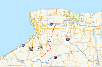 New York State Route 98 map