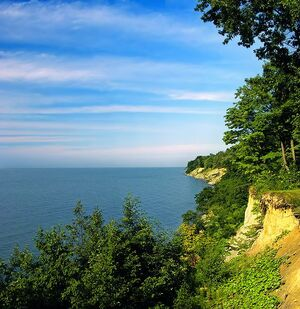 Lake Erie bluffs, Land's End, David M. Roderick Wildlife Reserve, Erie County.